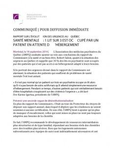Rapport sur l'évolution des urgences au Québec