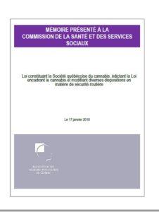 Mémoire présenté à la commission de la santé et des services sociaux
