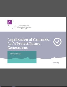 Position paper - Legalization of cannabis: let's protect future generations